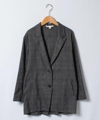 【LIKE A】グレンチェックテーラードジャケット