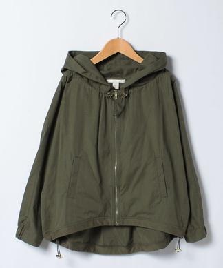 【LIKE A】フードつきジップジャケット