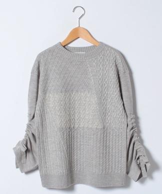 シャーリングスリーブセーター