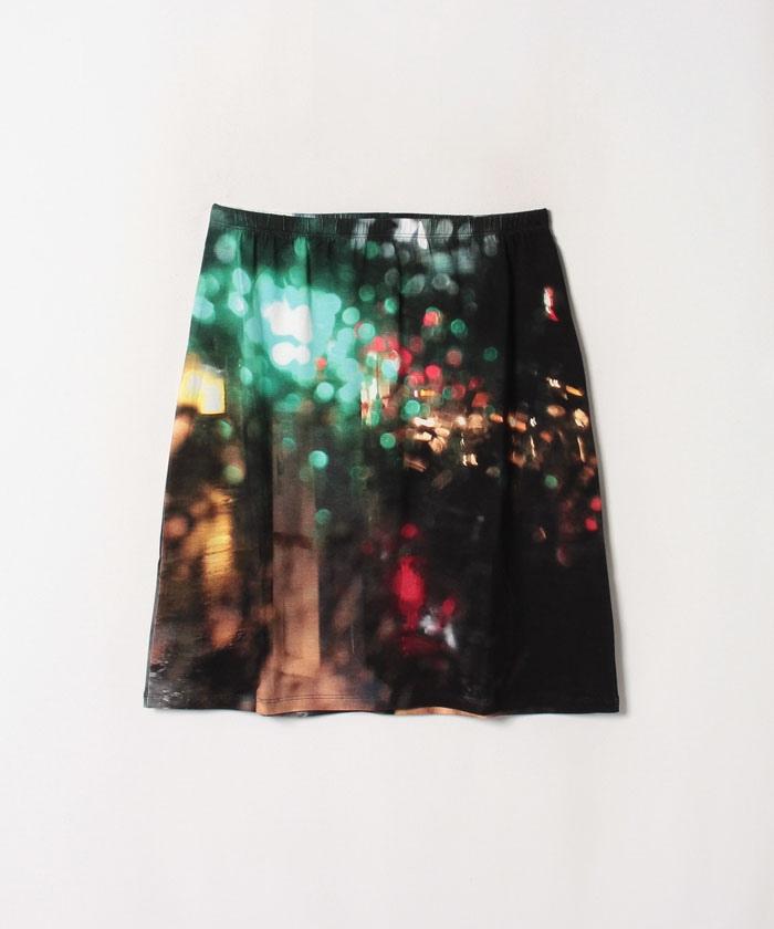 NQ11 JUPE フォトプリントスカート
