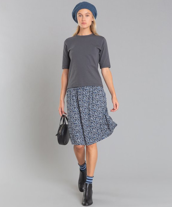 JFB4 JUPE フラワープリントスカート