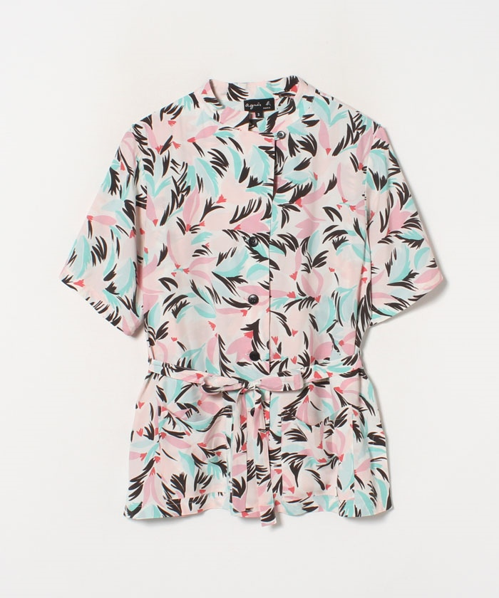 IBY0 CHEMISE フラワープリントシャツ