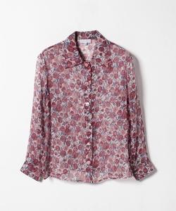 IBM7 CHEMISE 花柄シルクシャツ