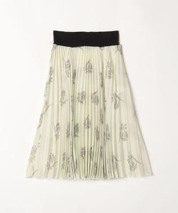 IBN3 JUPE フラワーモチーフプリーツスカート