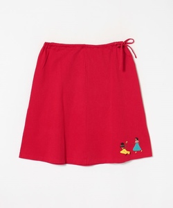 K242 JUPE 踊るカップル刺繍スカート