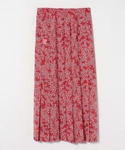 BN4 JUPE フラワープリントプリーツスカート