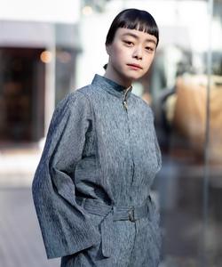 RIZ7 CHEMISE ちぢみ(帯生地) シャツジャケット