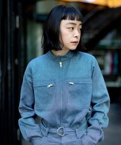 TBM4 CHEMISE 刺し子(着物生地) シャツジャケット