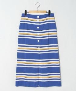 JEK0 JUPE マルチボーダーロングスカート