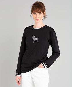K317 TS ゼブラ刺繍Tシャツ