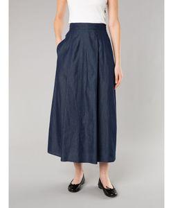 TN45 JUPE シャンブレーロングスカート
