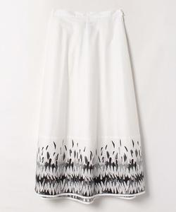 ICL9 JUPE フェザープリントスカート