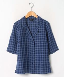 CZ54 CHEMISE チェックオープンカラーシャツ