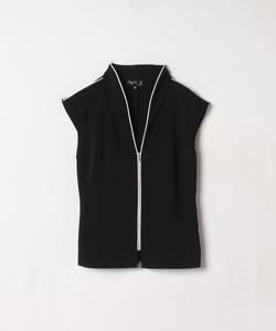 UQ87 CHEMISE ノースリーブジップシャツ