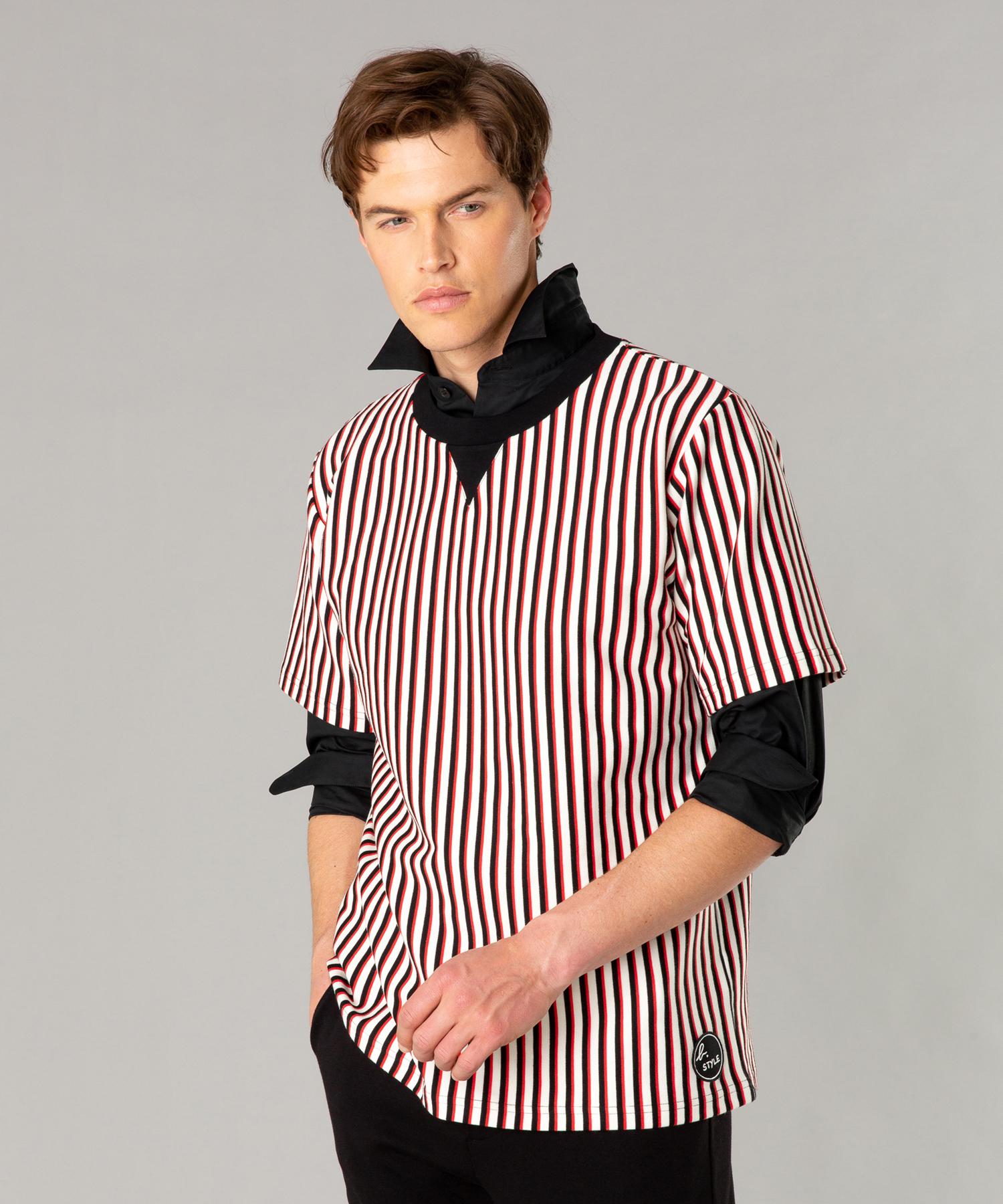 JDI5 TS ストライプTシャツ