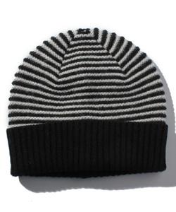 GZ19 BONNET ウールボーダーニット帽