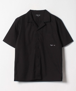 U892 CHEMISE 半袖ロゴ刺繍シャツ