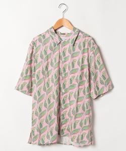 IBQ2 CHEMISE リーフプリントシャツ