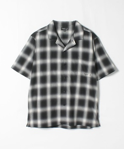 RIZ6 CHEMISE チェックオープンカラーシャツ