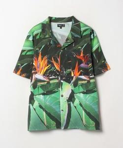 NS70 CHEMISE フォトプリントオープンカラーシャツ