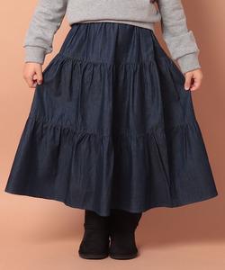 TBE0 E JUPE ティアードロングスカート