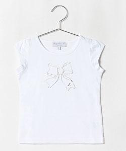 SCJ6 E TS リボンプリントTシャツ