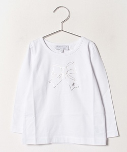 SCJ6 E TS キッズ リボンプリントTシャツ