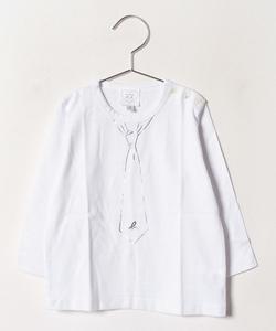 SCJ7 L TS ベビー ネクタイモチーフTシャツ