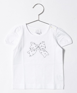 SCT3 L TS ベビー リボンプリントTシャツ