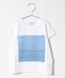 NS29 E TS キッズ フォトプリントTシャツ