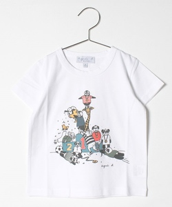 SCQ9 E TS キッズ ペンギンイラストTシャツ