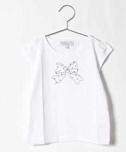 SCT3 E TS キッズ リボンプリントTシャツ