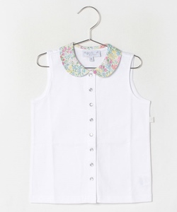 JGN9 E CHEMISE キッズ リバティプリントドッキングブラウス