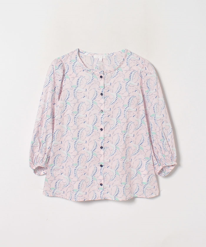 【Outlet】WP21 CHEMISE バードプリントブラウス