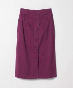 WG36 JUPE フロントボタンタイトスカート