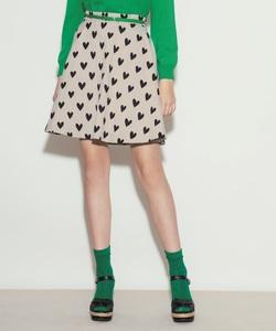WM47 JUPE ハートジャガードスカート