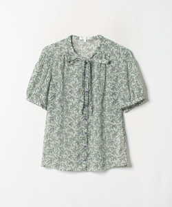 WN30 CHEMISE リーフ柄ブラウス