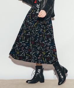WO16 JUPE メッセージロングスカート