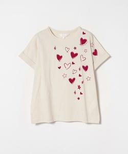 W984 TS ハートプリントTシャツ