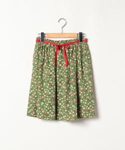 WM26 JUPE フルーツ&フラワー柄スカート