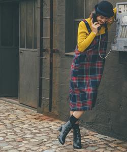 WQ07 ROBE タータンチェックジャンパースカート