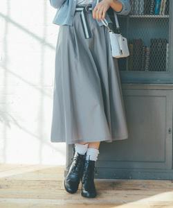 WR01 JUPE バイカラーベルトスカート