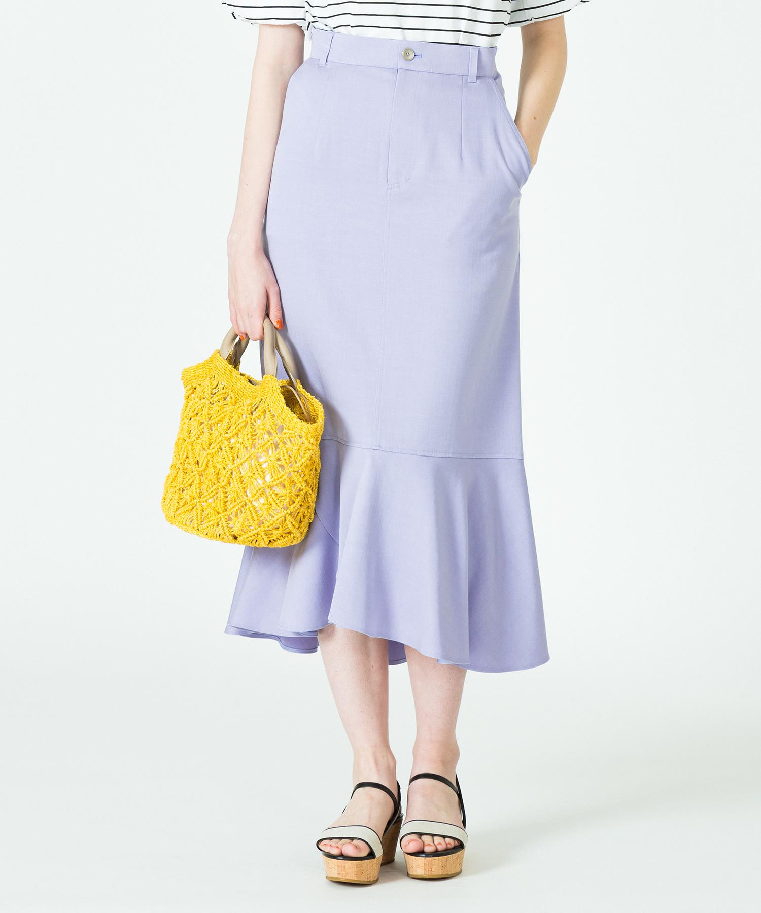 【LOULOU WILLOUGHBY】 デニムロングペプラムスカート