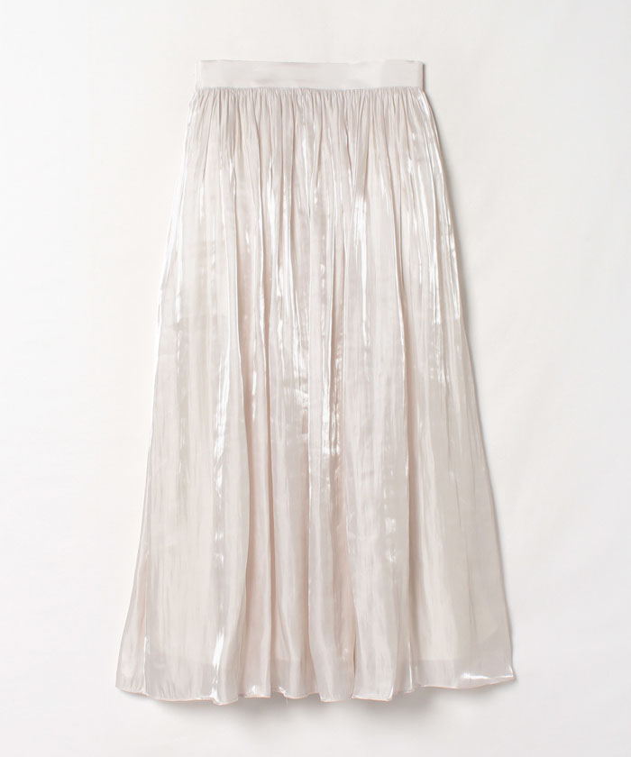 プラチナサテンギャザースカート