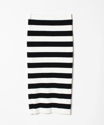 【セットアップ対応商品】ワイドリブタイトスカート