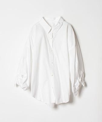 タイプライター袖リボンシャツ