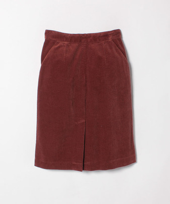 コーディロイ台形スカート