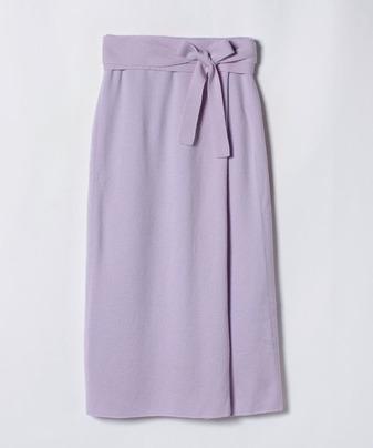 【セットアップ対応商品】ウールスムースタックストレートスカート