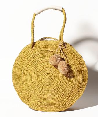 サークルラフィアバッグ