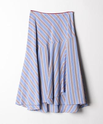 ストライプアシメラップスカート